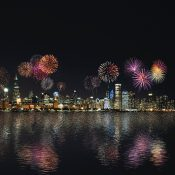Unexpected fireworks display