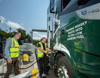 Whisky firm fuels trucks with whisky waste