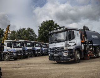 Bradford-based plant hire, groundworks and recycled aggregate specialist Buntons has added a Mercedes Arocs sweeper to its flee