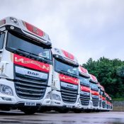 A West Yorkshire haulage firm has just taken delivery of 12 DAF XF 530 FTG Super Space tractor units.