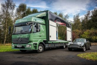 When it comes to transporting famous Aston Martin cars, only the Mercedes Atego will do for Aston Workshop.